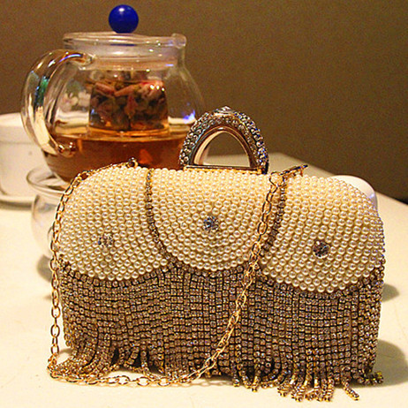 2015 fashion diamond pearl women's handbag trend women's bags messenger bag vintage handbag