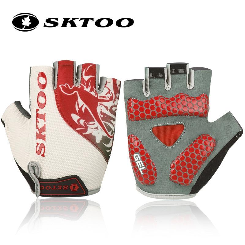 Prix pour SKTOO vélo gants demi doigt gants de vélo vtt accessoires vélo respirant durable de haute qualité pour hommes femmes