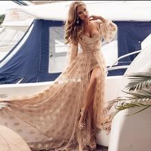 Sequined Sexy Dress Women Summer 2019 Long Sleeve Dresses Pearl Ladies Strapless Patchwork Gold Party