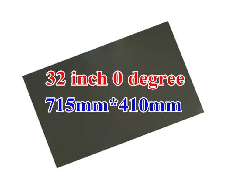 10PCS/Lot New 32inch 0 degree Glossy 709MM*403MM LCD Polarizer Polarizing Film for LCD LED TFT Screen for TV 1pc new 50inch 0 degree lcd polarizer film sheet for lcd led ips screen for tv