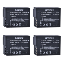 4Pcs DMW-BLC12 dmw blc12e DMCBLC12 BLC12 Rechargeable Li-ion Battery for Panasonic FZ1000, FZ200, FZ300, G5, G6, G7,GH2,DMC-GX8