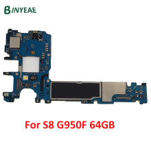 цены на Original MainBoard For Samsung Galaxy S8 G950F G950FD Motherboard Unlock With Chips IMEI Android OS EU Version Logic Board 64GB  в интернет-магазинах