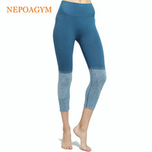 Nepoagym Vrouwen Naadloze Yoga Crop legging Squat Proof Yoga Broek Sport Capri Panty zweettransporterend Fitness Broek(China)