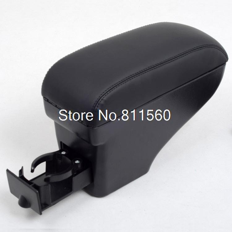 ФОТО For Nissan Tiida 2007-2014 Livina Versa 2007-2011 High Quality Black Leather Armrest Center Console Box Cover Moulding 1pcs/set