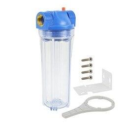 2019 Новинка! Весь фильтр для воды для дома Корпус, 10-дюймовая шпилька для x2.5 дюйма прозрачные Корпус 1-дюймовый Порты и разъёмы включают винты,...