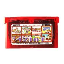 Nintendo GBA Игры EG002 12 в 1 Видеоигры Картридж Консоли Карты Сборников Collection Английский Язык