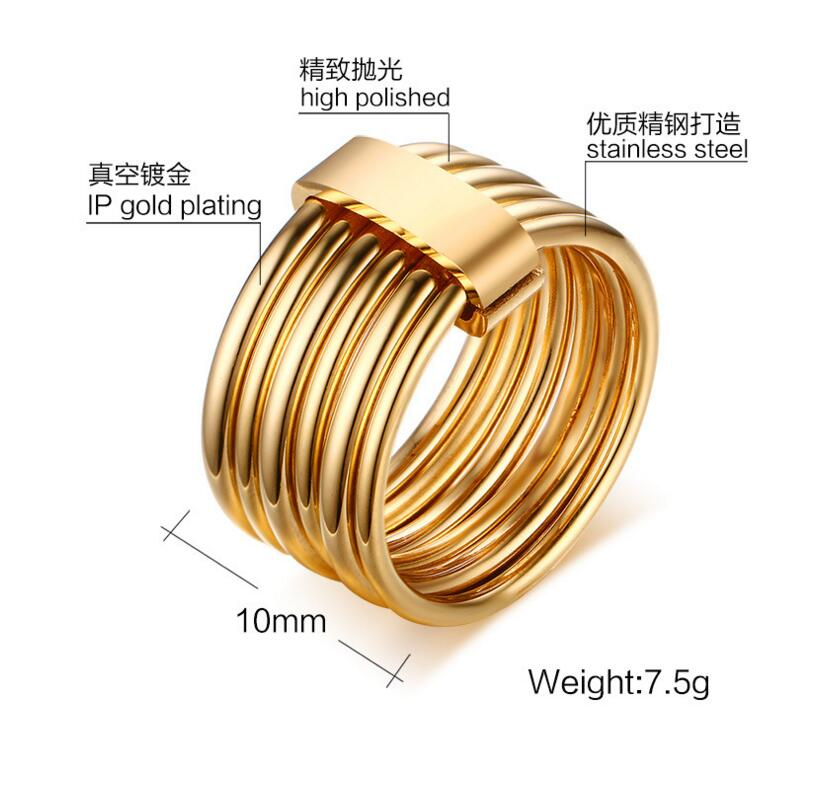 2016 new Fashion Brand Titanium Steel Plated Gold six Laps Carter Love Ring For Men/Women Bulgaria Anillos Fine Jewelry