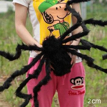 75 cm a 200 cm super grande aranha de pelúcia feitos de arame e preto de pelúcia e multicor estilo para o partido ou o dia das bruxas decoração