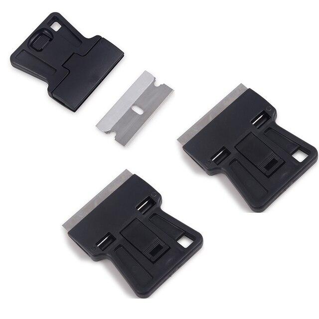 EHDIS 3pcs אוטומטי Razor מגרד עם פלדת סכין להב ויניל סרט לעטוף מכונית מגב קאטר חלון גוון דבק מדבקה מסיר כלים