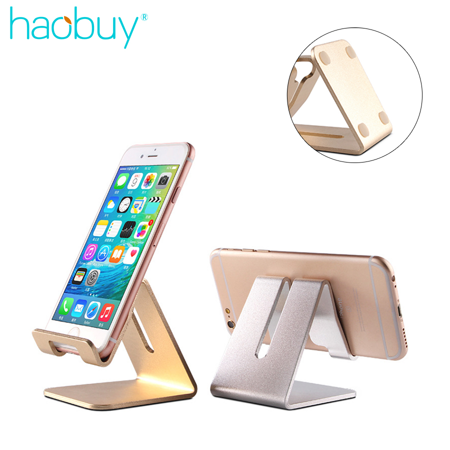 Universal Aluminum Metal Phone Stand Holder For iPhone 6 7 Plus Samsung S8 Tablet Desk Phone Holder Stand For Smart Watch