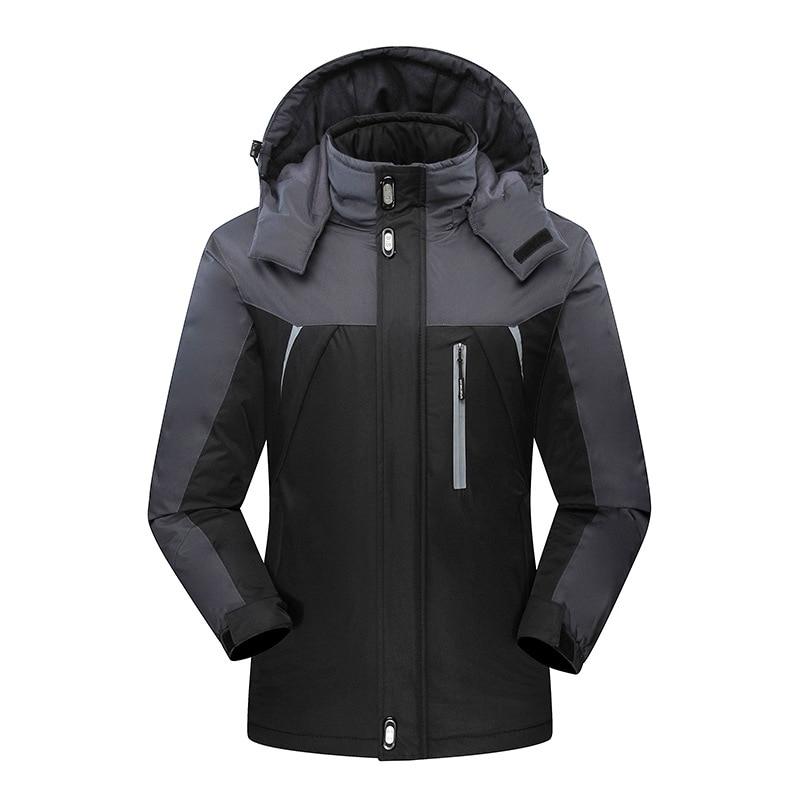 2019 Men's Winter Jackets Mens Thicken Patchwork Outwear Coats Male Fleece Hoode