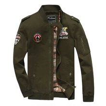 2019 spring and autumn men's casual jacket British US military uniform windbreaker men's stand collar cotton tooling jacket