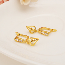 Gold crystal flower geometry Dangle Earrings Women Fashion Jewelry Gold Metal Drop Earrings For girls kids Gifts wedding bridal top women christmas gifts flower shape bridal jewelry accessories gold necklace crystal earrings italian jewelry sets