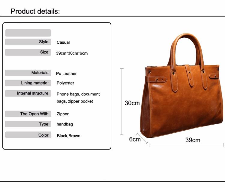 e57e29f03 JASON TUTU PU homens de couro saco de mão bolsas de Negócios bolsa Para  Laptop maleta saco de design Clássico Marrom Preto B164