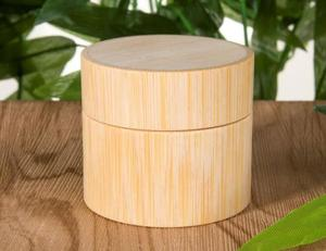 Image 2 - 10pcs/lot 3g 5g 10g 15g 30g 50g Bamboo Bottle Cream Jar Nail Art Mask Cream Refillable Empty Cosmetic Makeup Container Bottle