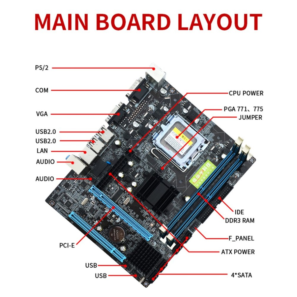 Image 5 - LGA 775 Gigabyte Motherboard G41 Desktop Computer Mainboard USB 2.0 DDR3 Memory 8GB 1066 1333MHz VGA Dual Core CPU SATA2.0-in Motherboards from Computer & Office