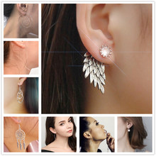 One Direction Jewelry Personality Wing Harpoon Drop Earrings For Women Bijoux Earring 2018 New Wholesale Earing Accessories(China)