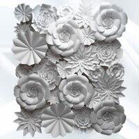 26 шт. комплект свадебных фон ручной работы DIY пены гигантский Бумага цветы всю стену Задний план Аксессуары деко