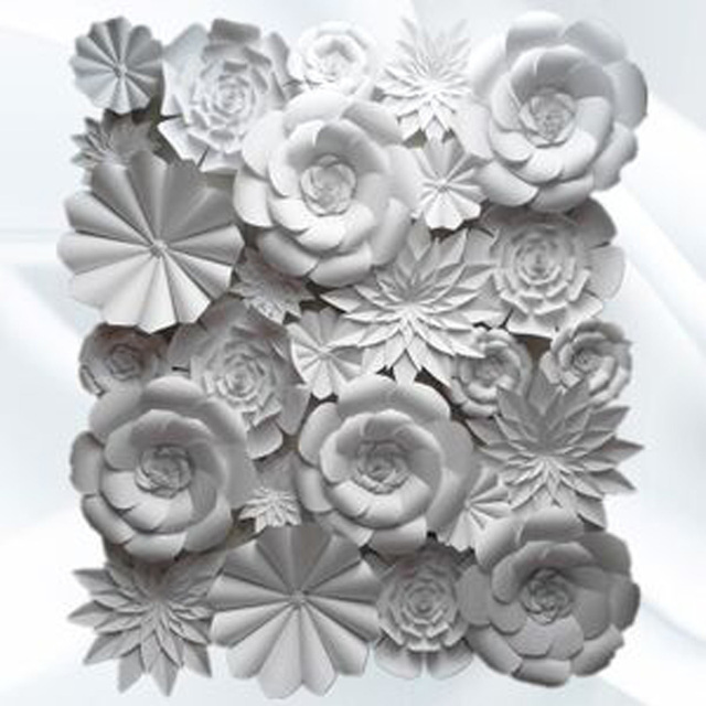 26 pcs set of wedding backdrop handmade diy foam giant paper paper 26 pcs set of wedding backdrop handmade diy foam giant paper paper flowers full wall background mightylinksfo
