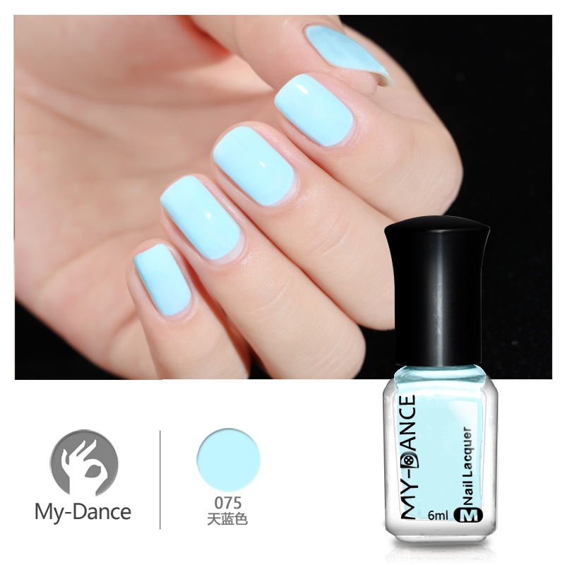 Aliexpress Com Buy Mydance 1 Bottle 6ml Light Blue Nail Polish