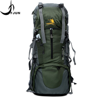 Large Capacity Nyolon Waterproof Climbing Hiking Backpack Rain Cover Bag Camping Mountaineering Outdoor Sport Bag FK13
