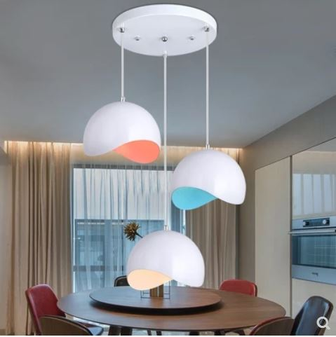Modern minimalist dining room dining room home dining table lamp three led creative personality Nordic hanging lamps