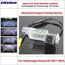 цены Liislee 860 Pixels Car Rear Back Up Camera For Volkswagen Passat B7 2011~2014 Rearview Parking Dynamic Guidance Tragectory