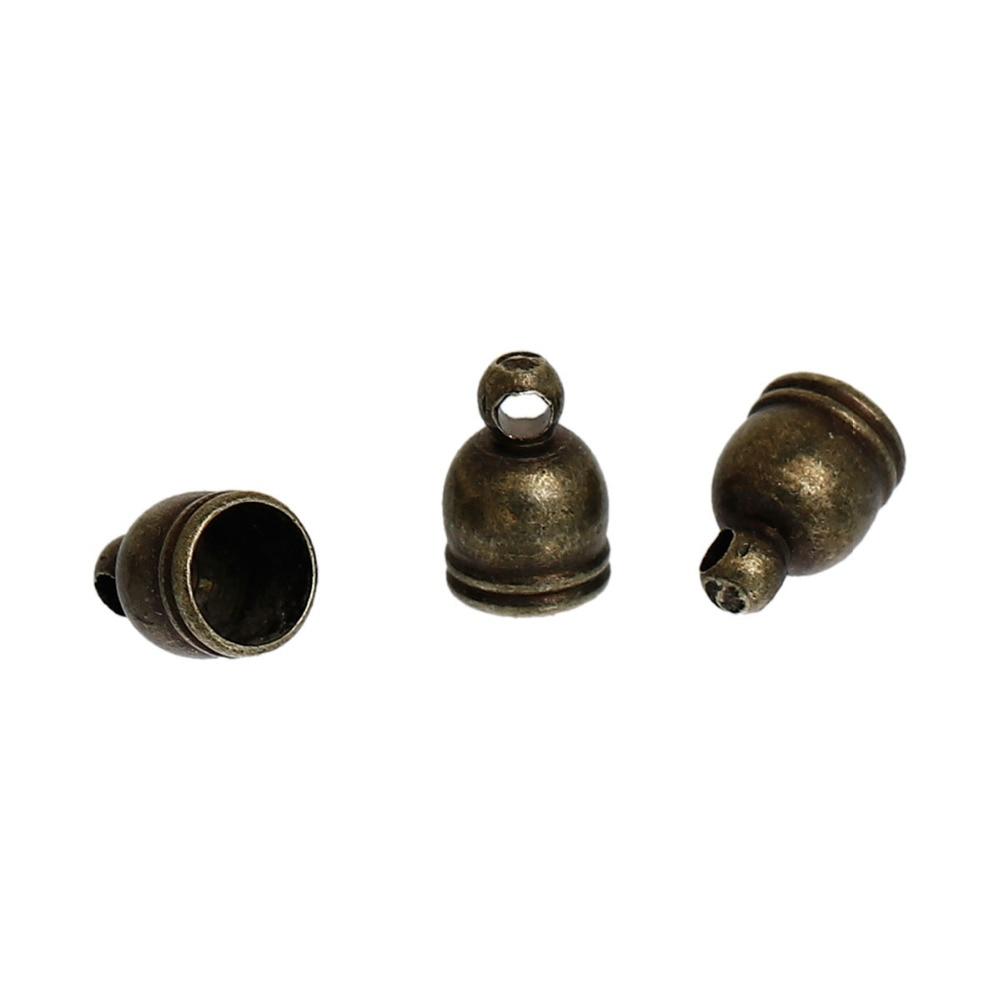 2/8 9mm X 6mm 30 Stücke Wir Nehmen Kunden Als Unsere GöTter Vereinigt Doreenbeads Kupfer Antike Bronze Gold Farbe Kabel Endkappen Zylinder Diy Komponenten passt 5mm Kabel