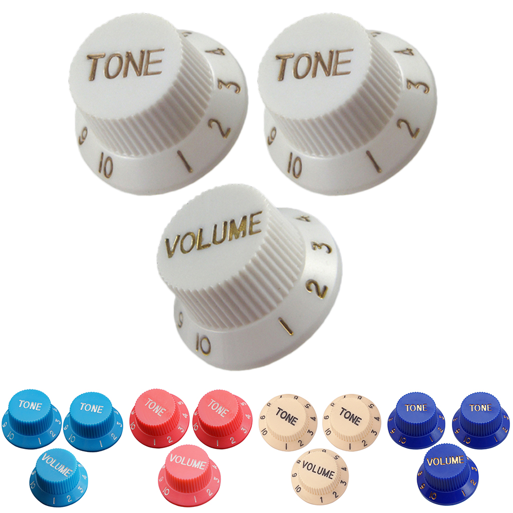 Guitar Speed Control Knobs 1 Volume 2 Tone For Stratocaster ST SQ Electric Guitars Parts Accessories
