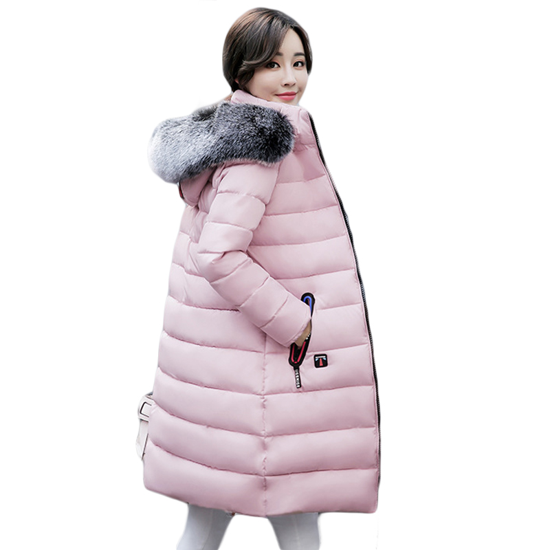 Snow Wear Faux Fur Collar Hooded Parka New Winter Jacket Women Thick Warm Cotton Winter Coat Women Casaco Manteau Femme CM1683 stylish bull watercolor pattern square shape flax pillowcase without pillow inner