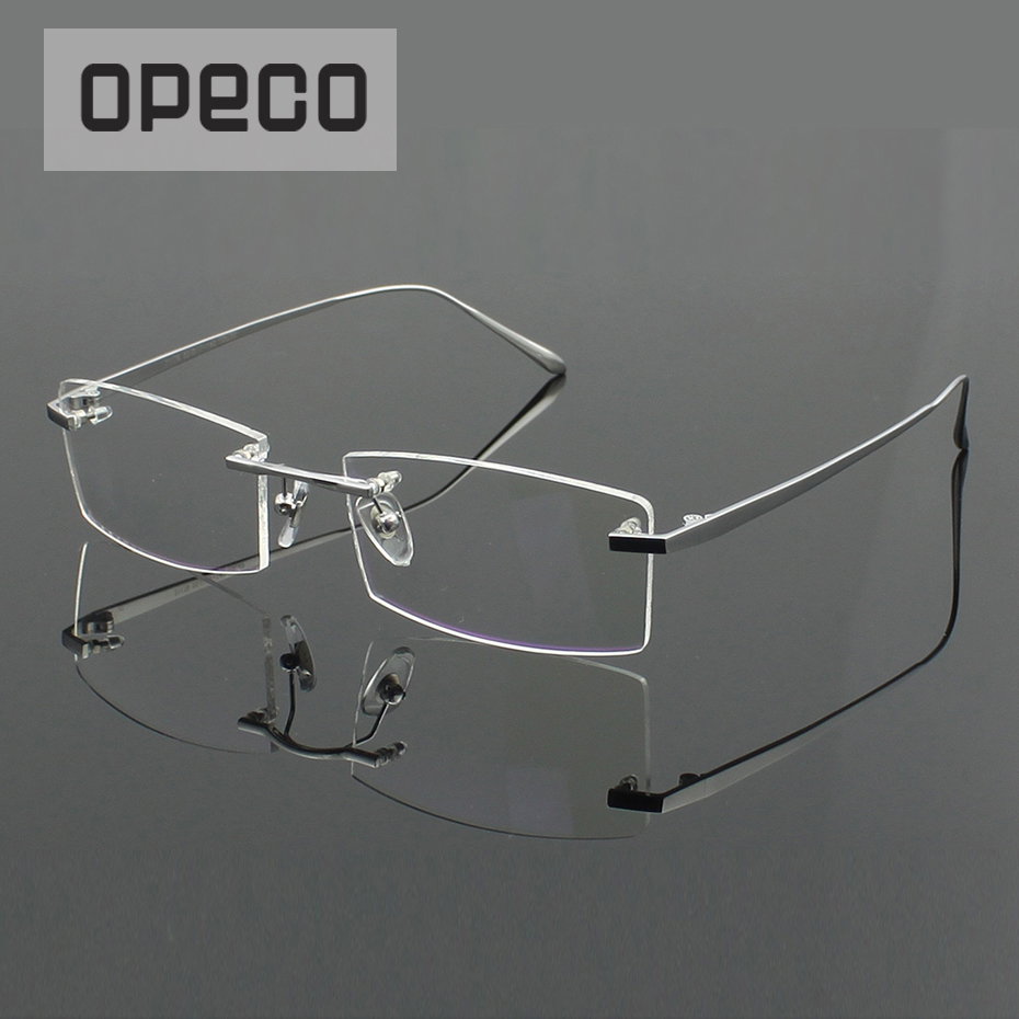 Opeco Pure Titanium Men's Classical Eyeglasses Including Prescription Lenses Eyewear RX Recipe Male Frame Spectacles #1179(China)