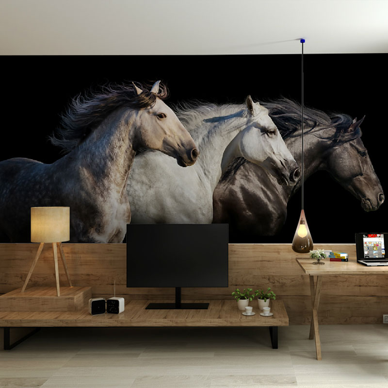 Horse Photo Wallpaper Stickers Home Decor Wall Papers
