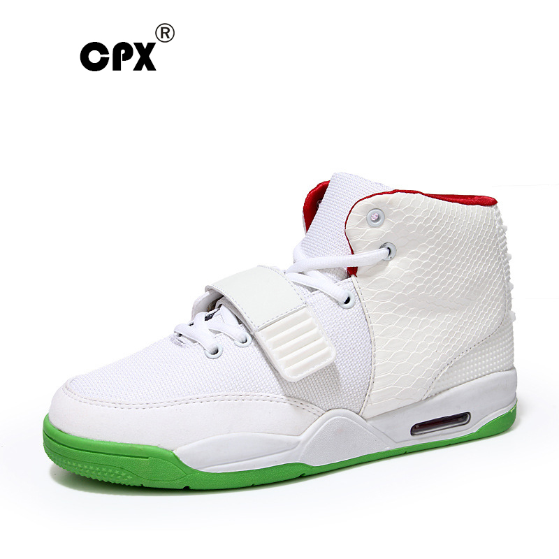 ФОТО CPX 2016 Men Basketball Shoes Air attack Series Professional Basketball Shoes Shock Absorption High-Top Rubber men Sneakers
