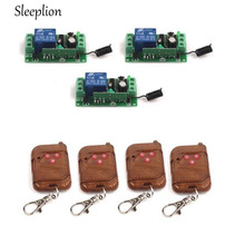 Sleeplion 12V 10A Wireless 315/433MHz Remote Control Switch Telecomando Transmitter with 315/433MHz Remote Control 3 Receiver