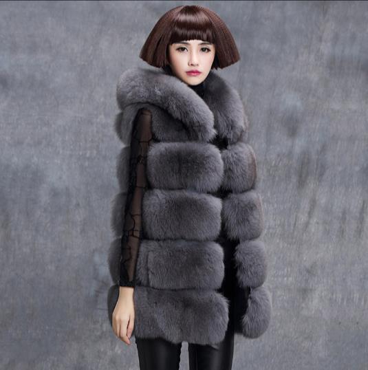 5905694bbff Fluffy 2018 Winter Women s Faux Fur Coat Artificial Fur Vest Fluffy Vests  Femme Jackets Plus Size Warm Fake Fur Gilet Z347