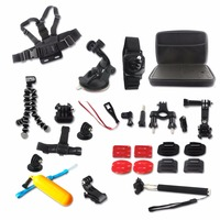 23 In1 Gopro Accessories Kit Set Gopro Case Tripod Floating Grip Helmet Arm Chest Belt Strap