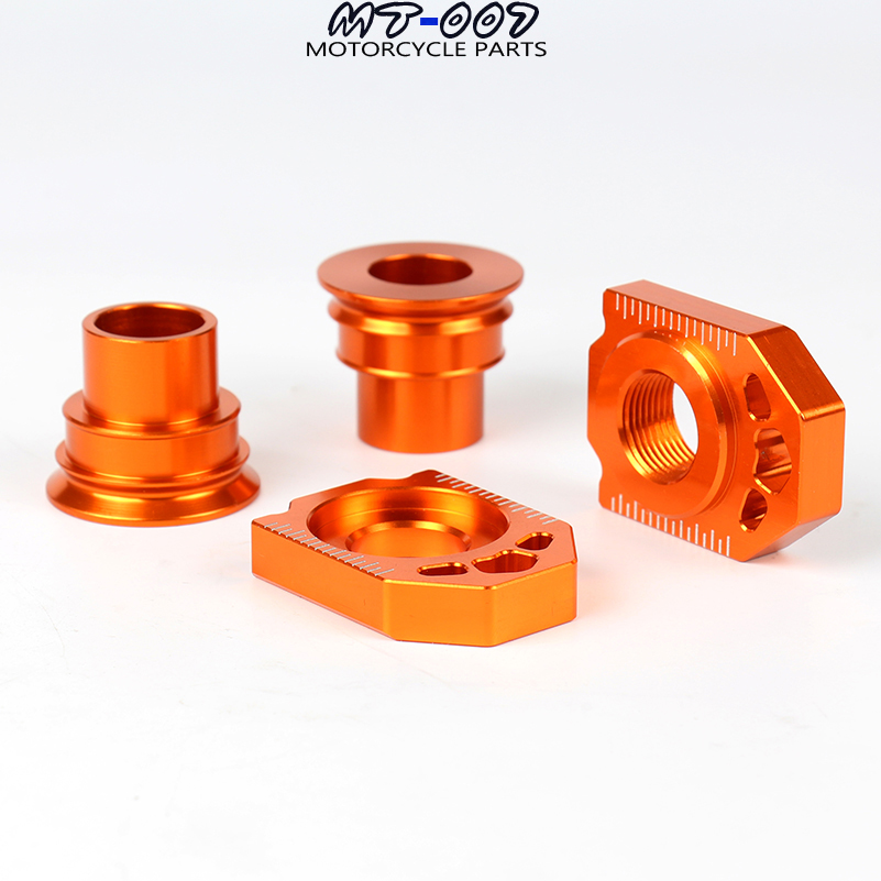 CNC Rear Chain Adjuster Axle Block And Front Rear Wheel Hub Spacer Sets For KTM SX SX-F XC XC-F 125 250 350 450 530 Motorcycle amo wheel seal front axle