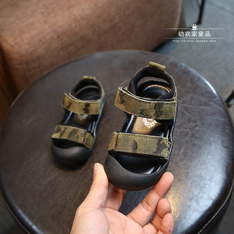 2018 Summer Kids Shoes Brand Closed Toe Toddler Boys Sandals Orthopedic Sport PU Leather Baby Boys Sandals Shoes