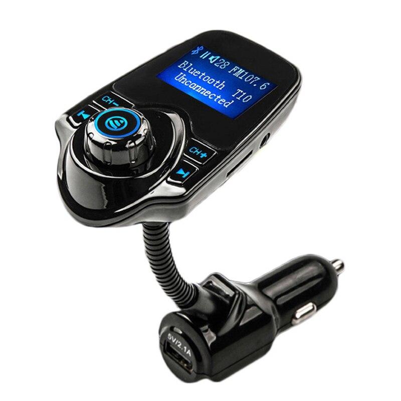 Bluetooth Transmetteur FM De Voiture MP3 Audio Lecteur Sans Fil Modulateur FM De Voiture Kit Mains Libres Écran lcd USB Chargeur pour Téléphone