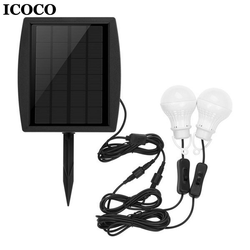 ICOCO Portable 10 LEDs Solar Power Bulb Light Emergency Night Light for Home Outdoor Fishing Camping Hiking Drop Shipping Sale