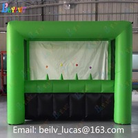 Inflatable archery game, green inflatable archery sports game for sale