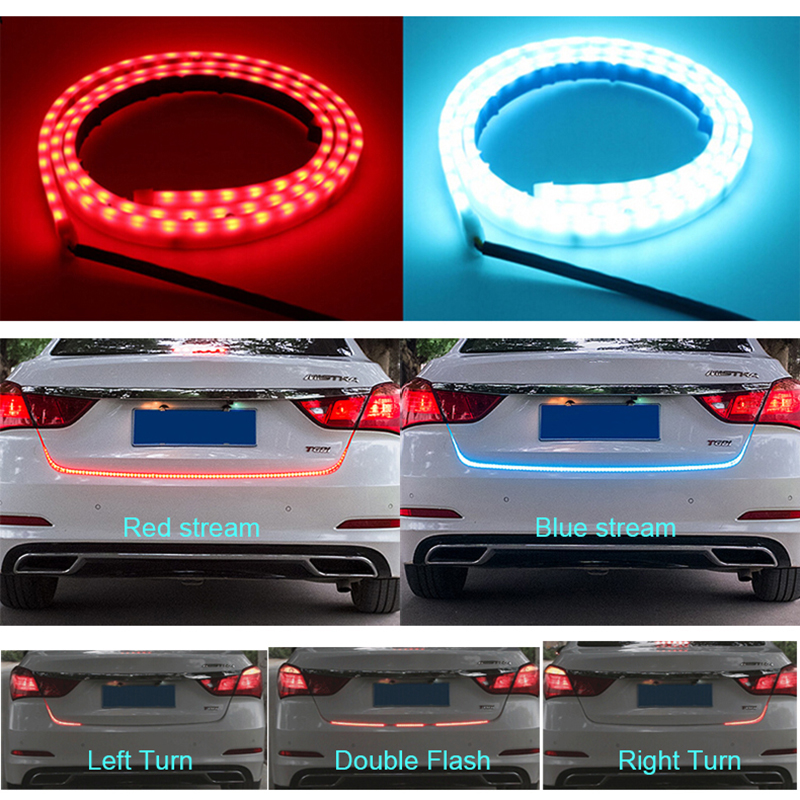 120cm 150cm 335 LED Dynamic Streamer Turn Signal Tail Box Trunk Lights Luggage Compartment Tailgate LED Warning Light Strips for volkswagen passat b6 b7 b8 led interior boot trunk luggage compartment light bulb
