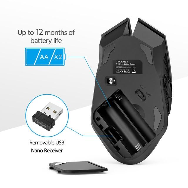 TeckNet Ergonomic Wireless Gaming Mouse 4