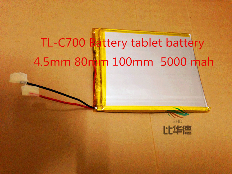 best battery brand The new TL C700 Battery 4 5mm 80mm 100mm 3 7v tablet battery
