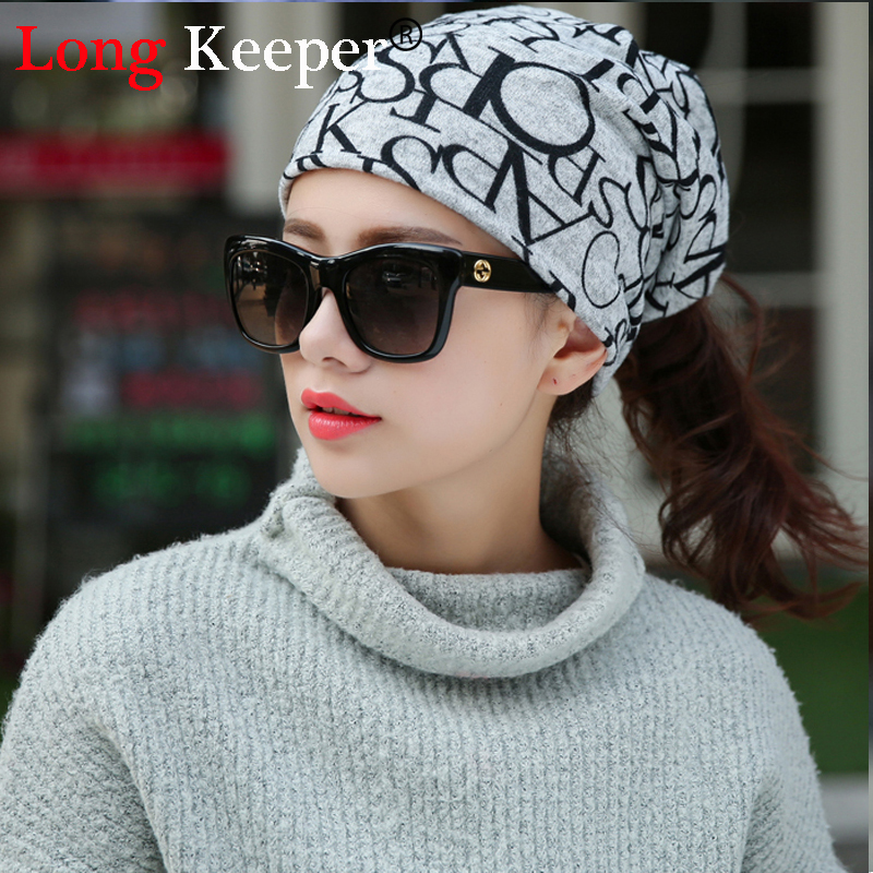 New Korea Brand Hip-Hop Hat &Sacrf Women Knitted Hat Skullies Lady Touca Letter Gorro Pi ...