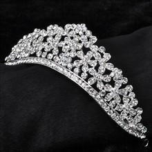Luxury bridal hair jewelry  wedding crown Diademe Crystal Rhinestone Tiara Hair Headpiece Wedding Bridal Head Crown 1042