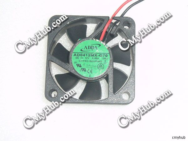 1pcs  ADDA AD0412MX-G70 DC12V 0.08A 4010 Silent Cooling Fan 2pin