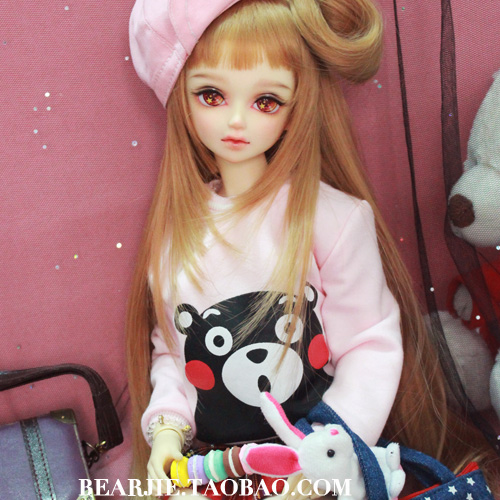 1/6 YOSD 1/4 1/3 BJD SD Doll accessories Bjd clothes pink shirt 1 6 1 4 1 3 bjd sd dd doll accessories doll clothes red fleece for bjd sd doll