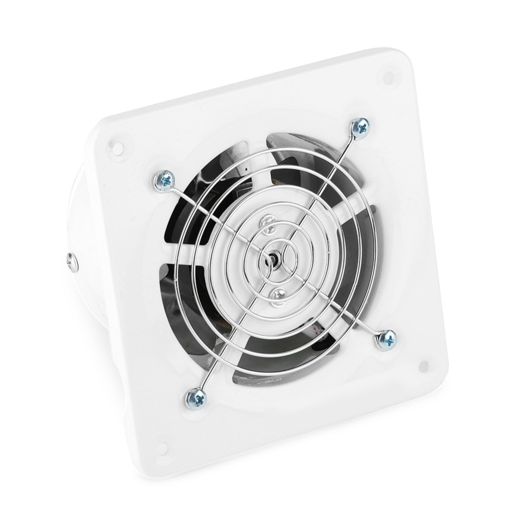25W 220V Ventilator Extractor Wall Mounted 4 Inch Exhaust Fan Low Noise Home Bathroom Kitchen