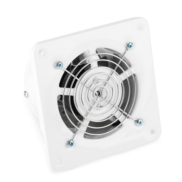 25W 220V Ventilator Extractor Wall Mounted 4 Inch Exhaust ...